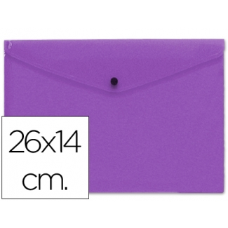 Carpeta Beautone dossier broche polipropileno tamaño 26x14 cm violeta