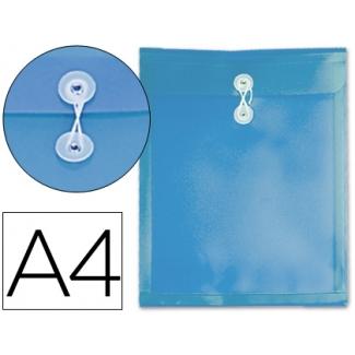 Carpeta Beautone dossier cierre gomillas polipropileno tamaño A4 color azul