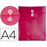 Carpeta Beautone dossier cierre gomillas polipropileno tamaño A4 color roja