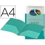 Carpeta Beautone dossier dos bolsas canguros polipropileno tamaño A4 color verde