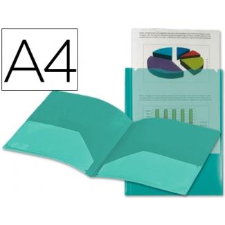 Liderpapel KG03 - Dossier con dos bolsas canguro, A4, 400 micras, color verde