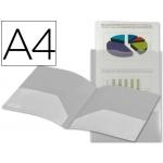 Liderpapel KG04 - Dossier con dos bolsas canguro, A4, 400 micras, color transparente