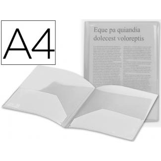 Carpeta Beautone dossier dos bolsas polipropilenodin tamaño A4 color incolora