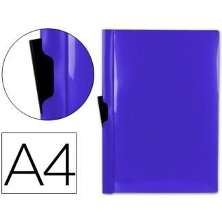 Carpeta Beautone dossier pinza lateral polipropileno tamaño A4 color azul 30 hojas pinza deslizante