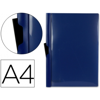 Liderpapel DP03 - Dossier con pinza lateral, A4, capacidad para 30 hojas, color azul