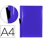 Carpeta Beautone dossier pinza lateral polipropileno tamaño A4 color azul 60 hojas pinza deslizante