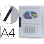 Liderpapel DP13 - Dossier con pinza lateral, A4, capacidad para 30 hojas, pinza giratoria, color incoloro