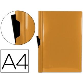 Carpeta Beautone dossier pinza lateral polipropileno tamaño A4 color naranja 30 hojas pinza deslizante