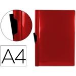 Carpeta Beautone dossier pinza lateral polipropileno tamaño A4 color roja 30 hojas pinza deslizante