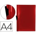 Carpeta Beautone dossier pinza lateral polipropileno tamaño A4 color rojo 60 hojas pinza deslizante