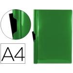 Carpeta Beautone dossier pinza lateral polipropileno tamaño A4 color verde 30 hojas pinza deslizante