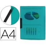 Carpeta Beautone dossier pinza lateral polipropileno tamaño A4 color verde 30 hojas pinza giratoria