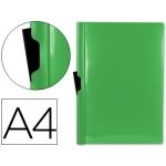 Liderpapel DP12 - Dossier con pinza lateral, A4, capacidad para 60 hojas, color verde