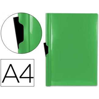 Carpeta Beautone dossier pinza lateral polipropileno tamaño A4 color verde 60 hojas pinza deslizante