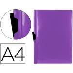 Liderpapel DP08 - Dossier con pinza lateral, A4, capacidad para 30 hojas, color violeta