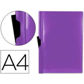 Carpeta Beautone dossier pinza lateral polipropileno tamaño A4 color violeta 30 hojas pinza deslizante