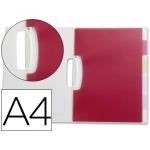 Carpeta Beautone dossier pinza lateral polipropileno tamaño A4 transparente con separadores