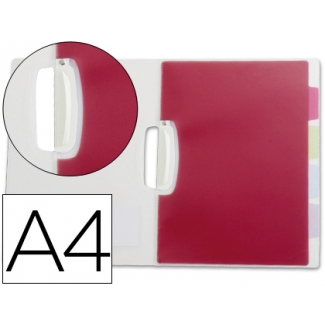 Liderpapel 40464 - Dossier con pinza lateral, A4, con 5 separadores, color transparente