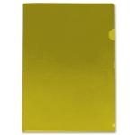 Carpeta Beautone dossier uñero polipropileno tamaño A4 amarilla 20 hojas