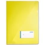 Carpeta Beautone dossier uñero polipropileno tamaño A4 contarjetero y solapa interior color amarillo