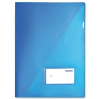 Carpeta Beautone dossier uñero polipropileno tamaño A4 contarjetero y solapa interior color azul