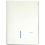 Carpeta Beautone dossier uñero polipropileno tamaño A4 contarjetero y solapa interior color blanco