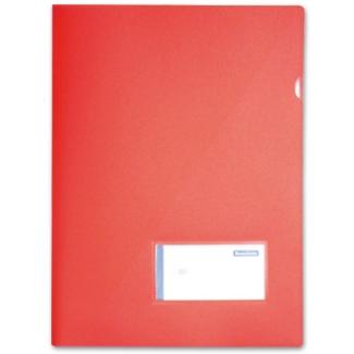 Carpeta Beautone dossier uñero polipropileno tamaño A4 contarjetero y solapa interior color rojo