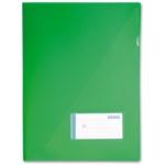 Carpeta Beautone dossier uñero polipropileno tamaño A4 contarjetero y solapa interior color verde