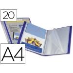 Carpeta Beautone escaparate 20 fundas canguro polipropileno tamaño A4 color azul portada y lomo personalizable