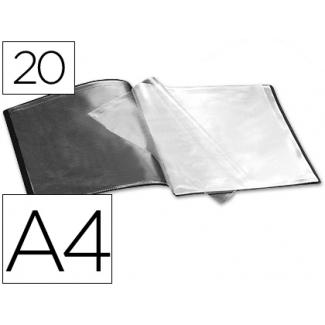 Carpeta Beautone escaparate 20 fundas polipropileno tamaño A4 negra