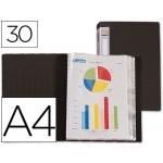 Carpeta Beautone escaparate 30 fundas polipropileno tamaño A4 negra lomo personalizable