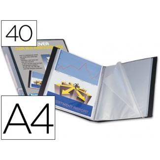 Carpeta Beautone escaparate 40 fundas polipropileno tamaño A4 negra portada y lomo personalizable