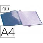 Carpeta Beautone escaparate 40 fundas polipropileno tamaño A4 color azul