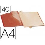 Carpeta Beautone escaparate 40 fundas polipropileno tamaño A4 color roja