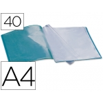 Carpeta Beautone escaparate 40 fundas polipropileno tamaño A4 color verde