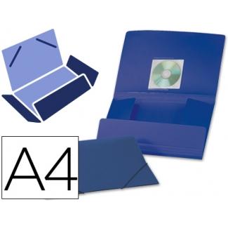 Carpeta Beautone gomas solapas polipropileno tamaño A4 color azul