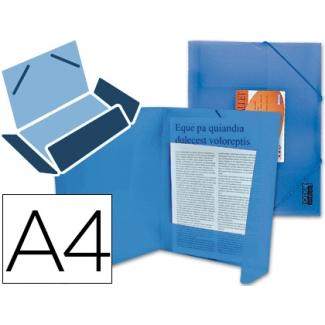 Carpeta Beautone gomas solapas polipropileno tamaño A4 color azul serie frosty