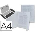 Liderpapel CG71 - Carpeta de plástico con gomas, con tres solapas, lomo flexible, tamaño A4, translúcida