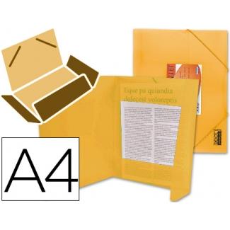 Opina sobre Liderpapel CG73 - Carpeta de plástico con gomas, con tres solapas, lomo flexible, tamaño A4, color naranja translúcido