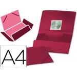 Carpeta Beautone gomas solapas polipropileno tamaño A4 color roja