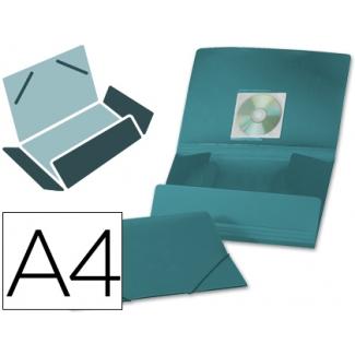 Carpeta Beautone gomas solapas polipropileno tamaño A4 color verde