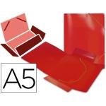Carpeta Beautone gomas solapas polipropileno tamaño A5 color roja