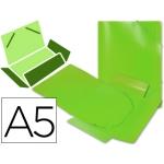 Carpeta Beautone gomas solapas polipropileno tamaño A5 color verde