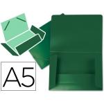 Carpeta Beautone gomas solapas polipropileno tamaño A5 color verde opaco