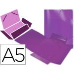 Carpeta Beautone gomas solapas polipropileno tamaño A5 color violeta