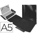Carpeta Beautone gomas solapas polipropileno tamaño A5 negra