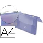 Carpeta Beautone portadocumentos broche polipropileno tamaño A4 azul transparente