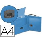 Carpeta Beautone portadocumentos broche polipropileno tamaño A4 azul transparente con asa
