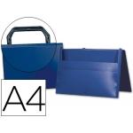 Carpeta Beautone portadocumentos broche polipropileno tamaño A4 color azul con asa