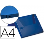 Carpeta Beautone portadocumentos broche polipropileno tamaño A4 color azul lomo de 80 mm